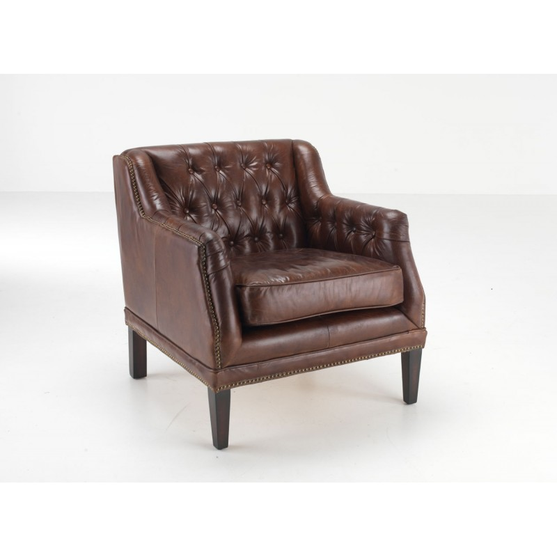 Leather Club Chair Brown Leather Tub Chair Button Back  : fiona leather chair from www.ancientmarinerfurniture.co.uk size 800 x 800 jpeg 50kB