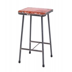 Square Metal Bar Stool