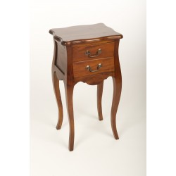 Mahogany Village French Side Table