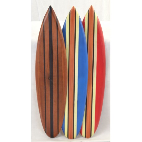 Small Wooden Ornamental Surfboard available in Red, Blue and Natural Wood