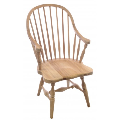 Solid wood vintage windsor chair with a washed finish