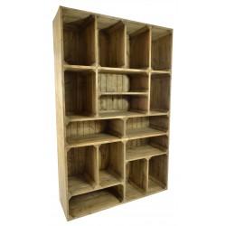 Solid Pine Alcove Bookcase