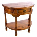 Rustic Mango Wood Half Round Console Table