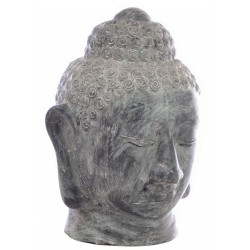 Grey Terracotta Buddha Head