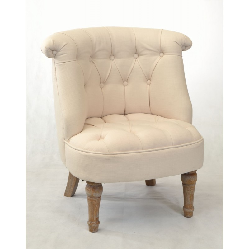 Incroyable White Bedroom Chair With Buttoned Padding And Washed Solid Wood Legs.  Loading Zoom
