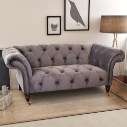 Velvet Small Chesterfield Sofa