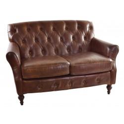 Vintage Leather Button Back Sofa
