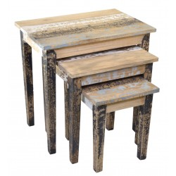 Distressed Painted Nest of Tables