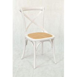 White Bentwood Dining Chair