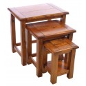 Rustic Mango Wood Nest of Tables