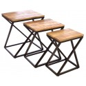 Industrial Angled Nest of Tables