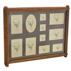 Multi picture photo frame with black background in a reclaimed pine frame
